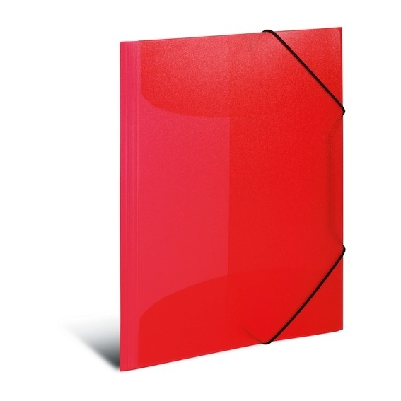HERMA 19504 3x Sammelmappe A4 PP transluzent rot