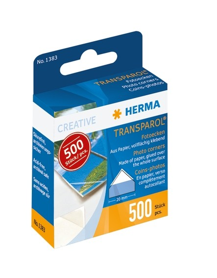 HERMA 1383 10x 500 Transparol Fotoecken Spendepackung