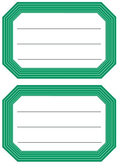 HERMA 5716 10x Schuletiketten neutral grüner Rand liniert 82x55
