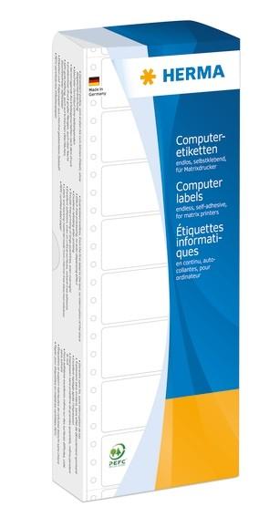 HERMA 8161 Computeretiketten 88,9x35,7 mm 1-bahnig weiß Papier m