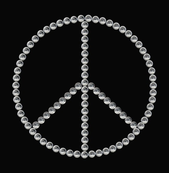 HERMA 15381 3x Crystal Sticker Peace