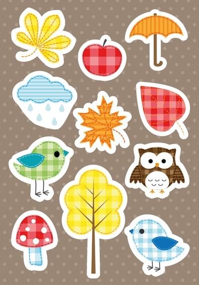 HERMA 3075 10x Sticker DECOR Herbstfreude