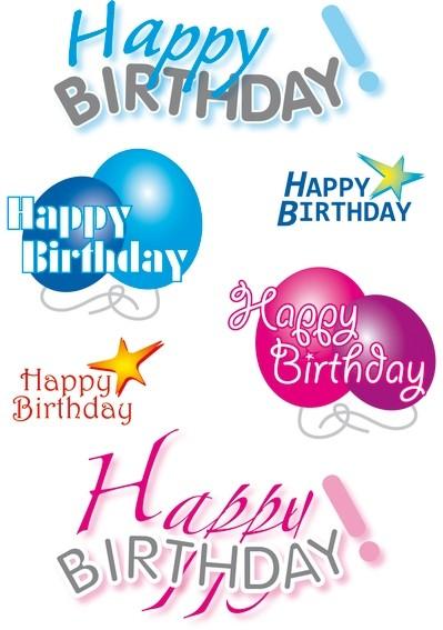 HERMA 3408 10x Sticker DECOR Happy Birthday