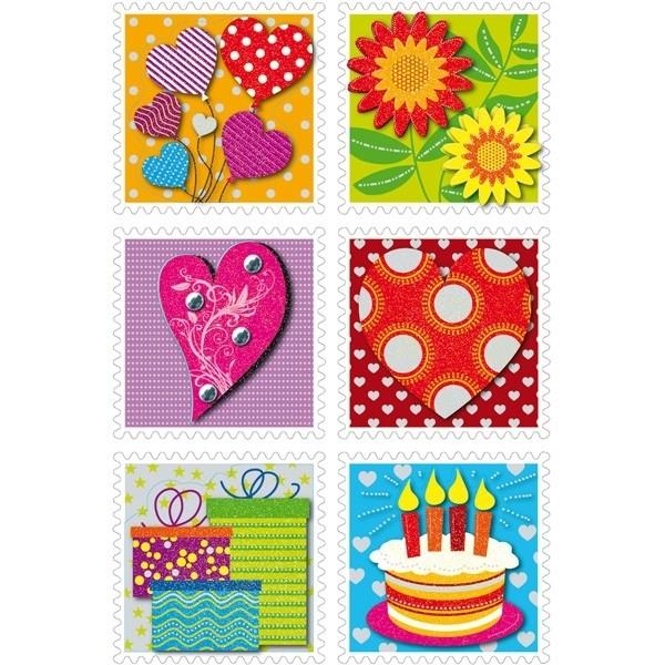 HERMA 3659 10x Sticker MAGIC Briefmarken10x Sticker, 3-D Papier