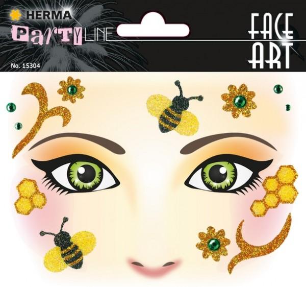 HERMA 15304 5x Face Art Sticker Honey bee