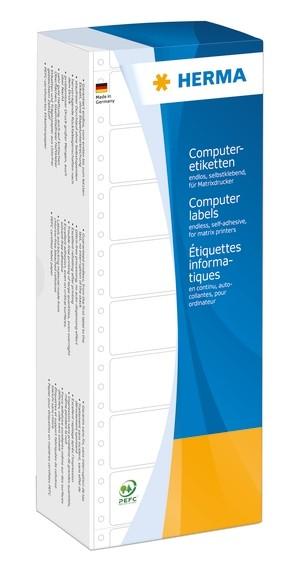 HERMA 8211 Computeretiketten 88,9x35,7 mm 1-bahnig weiß Papier m
