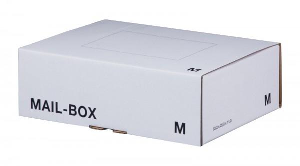 Versandkarton 331 x 241 x 104 mm mit Steckverschluss in Weiß