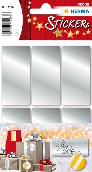 HERMA 15286 10x Silberetiketten 26 x 54 mm 18 St.