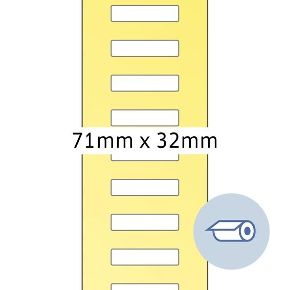 HERMA 4075 Rollenetiketten Thermotransfer 71x32 mm weiß Papier s