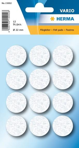 HERMA 15002 10x Filzgleiter weiß Ø 22 mm