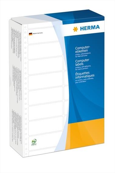 HERMA 8221 Computeretiketten 88,9x23 mm 2-bahnig weiß Papier mat