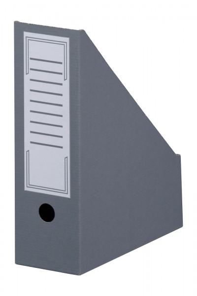 Archiv-Stehsammler mit Beschriftungsfeld 100 mm Rückenbreite DIN A4 Grau