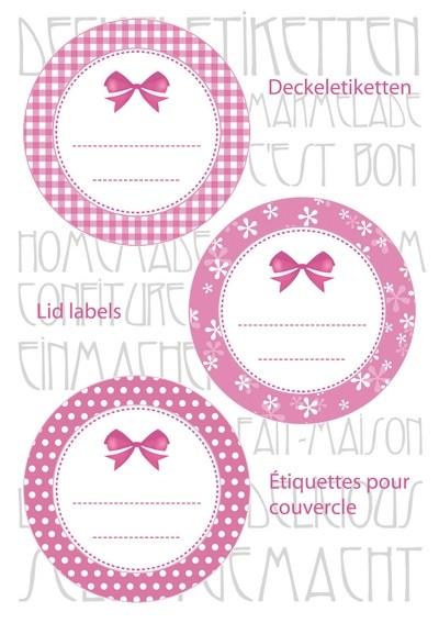 HERMA 15051 10x Sticker HOME Deckeletiketten Ø 44 rosa