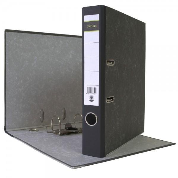 Ordner A4 5 cm Wolkenmarmorbezug schwarz Aktenordner Briefordner