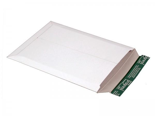 350 x 265 x -32 mm Versandtasche aus Vollpappe (weiß)