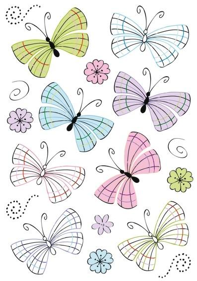 HERMA 3379 10x Sticker DECOR Moderne Schmetterlinge, Folie