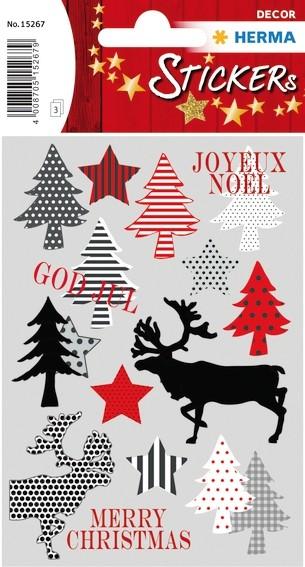 HERMA 15267 10x Sticker DECOR Merry Christmas