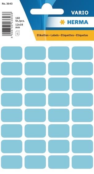 HERMA 3643 Vielzwecketiketten 12x18 mm blau Papier matt 1600 St.