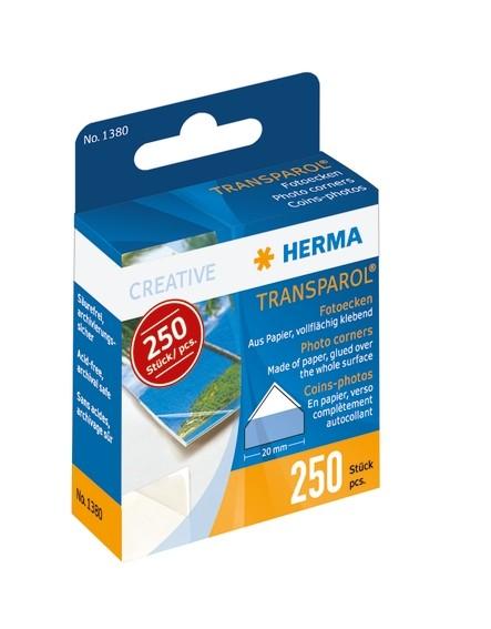 HERMA 1380 10x 250 Transparol Fotoecken Spendepackung