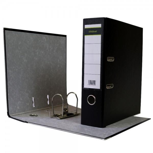 Ordner A4 8 cm PP Kunststoff Schwarz Aktenordner Briefordner