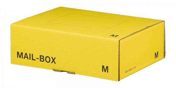 Versandkarton 331 x 241 x 104 mm mit Steckverschluss in Gelb