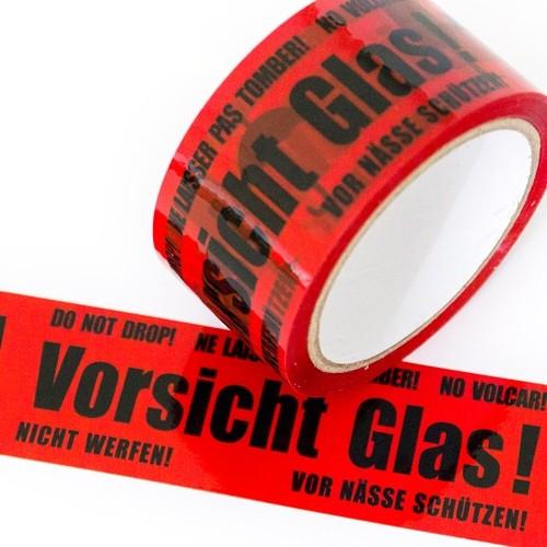 PP Klebeband Vorsicht Glas 50 mm x 66 lfm