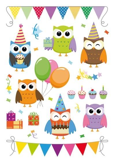 HERMA 3708 10x Sticker MAGIC Birthday Party, Prismaticfolie + Fo