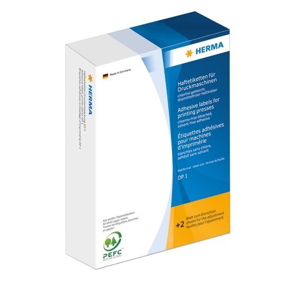 HERMA 2953 Haftetiketten für Druckmaschinen DP1 34x53 mm blau Pa
