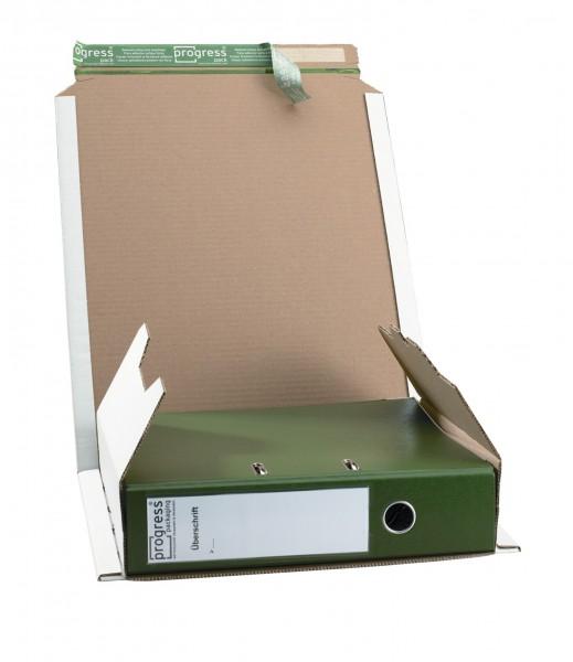320 x 290 x 35-80 mm Ordner-Versandverpackung (weiß)