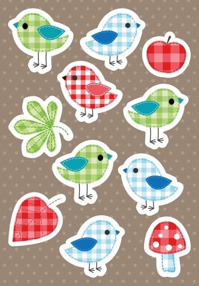 HERMA 3684 10x Sticker MAGIC Piepmatz, Karton